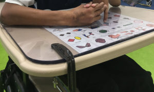 student with universal core board